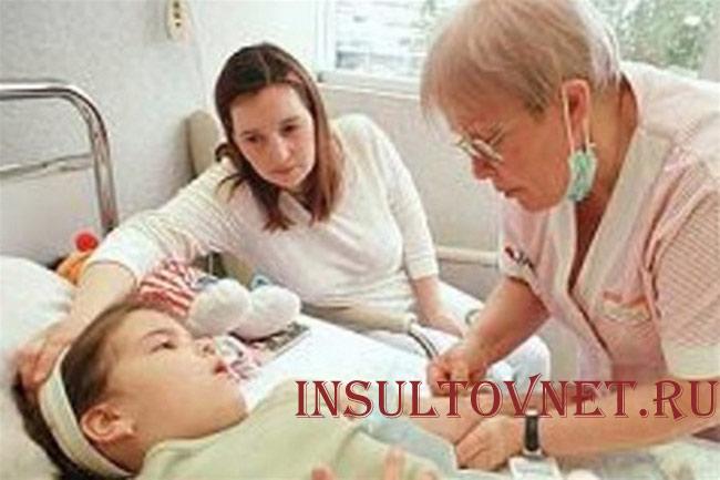Течение детского ишемического инсульта