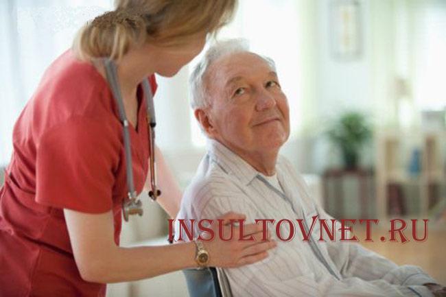 Помощь родных при инсульте
