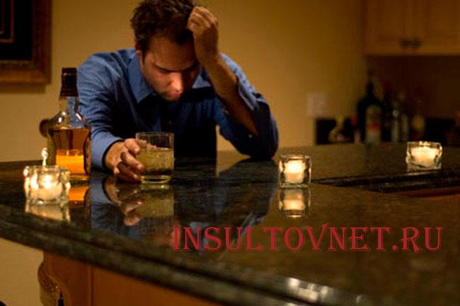 Алкоголь приводит к инсульту