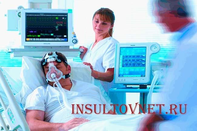 Поддержание жизнедеятельности после инсульта