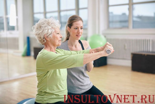 Упражнения после инсульта