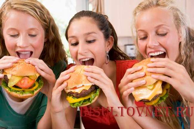 Реклама вредной еды