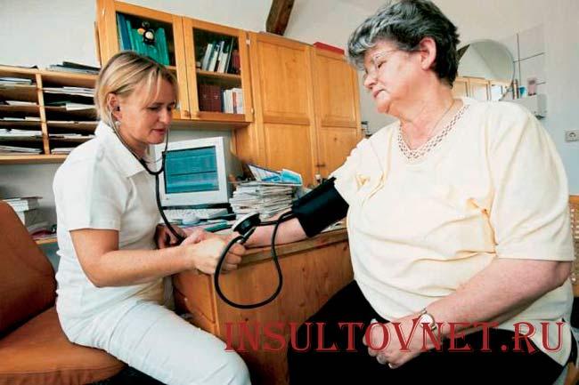 Высокое давление при инсульте