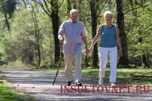 Уличные прогулки при инсульте