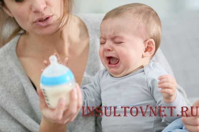 Ребенок долго плачет