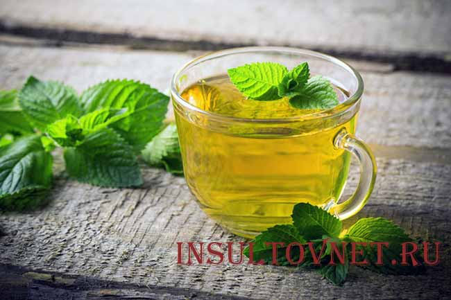 Мятный чай от головной боли