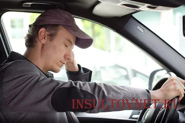 Боль напряжения у водителя