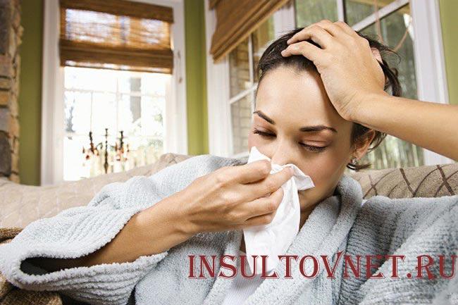 Левосторонняя головная боль при инфекциях
