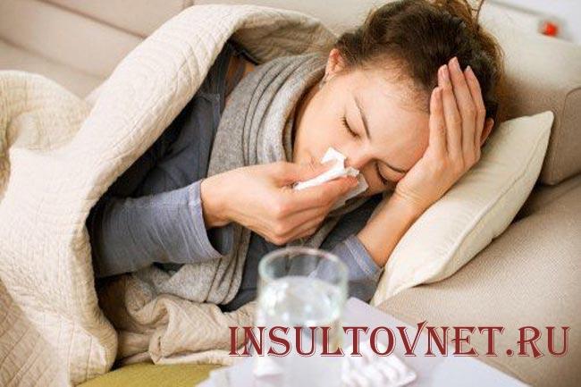 Почему при простуде болит голова