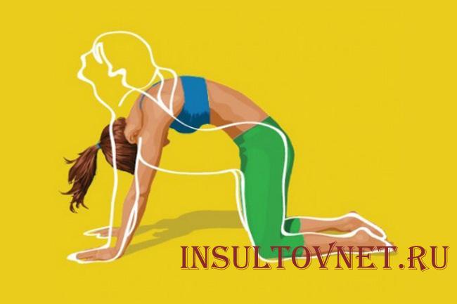 Втягивание живота упражнение