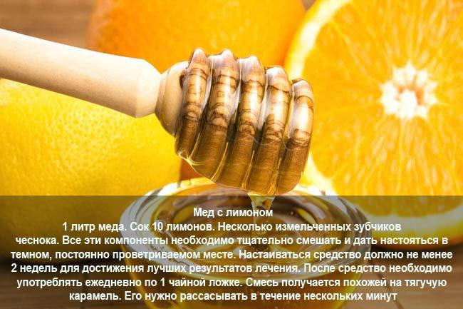 Мед и лимон при инсульте